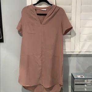 Lush Pink V Neck Dress